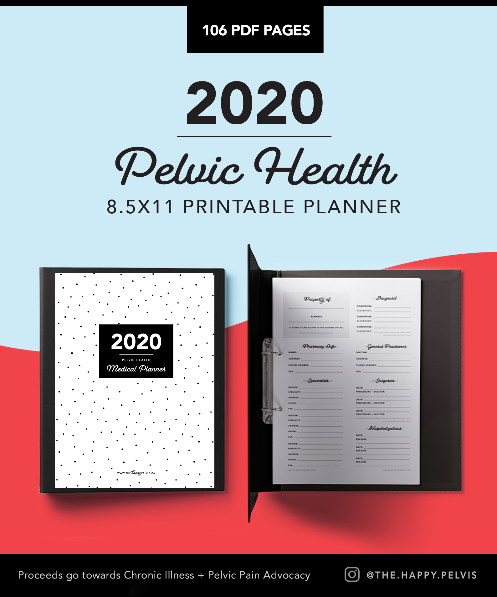 2020 Medical Binder Printable Planner