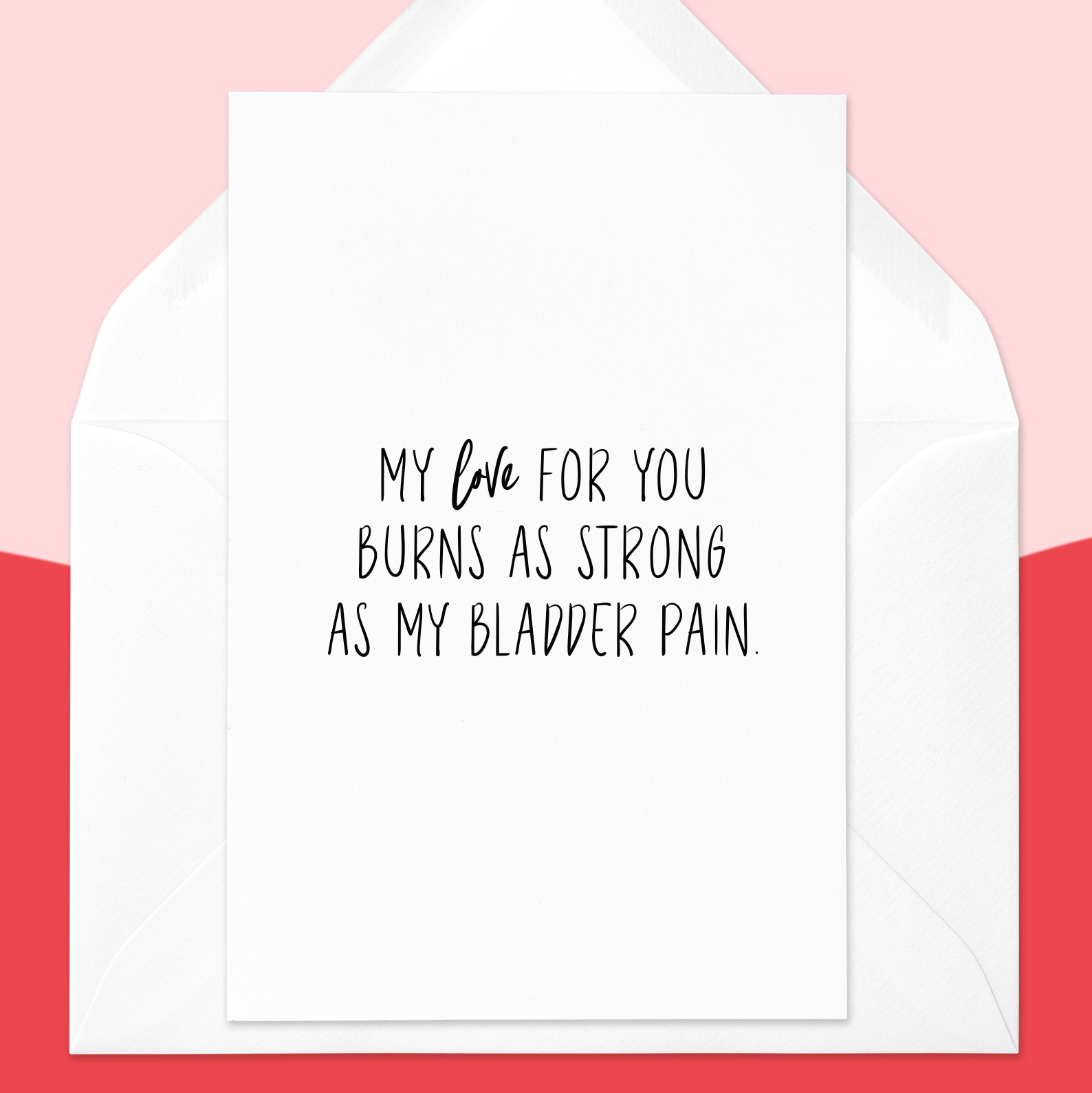 Interstitial Cystitis Valentines Card