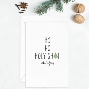 2020 Holiday card - Ho Ho Holy 7x7